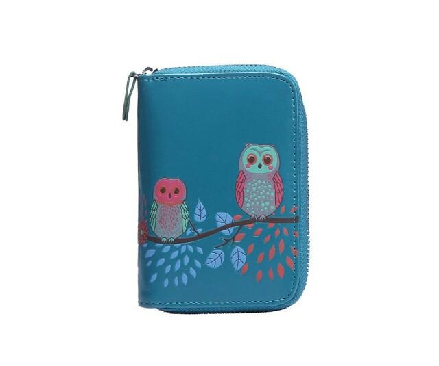 Peněženka Cute Owls - modrá
