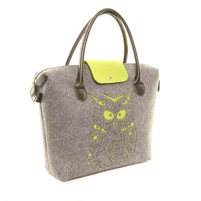 Filcová kabelka Felt Owl - zelená