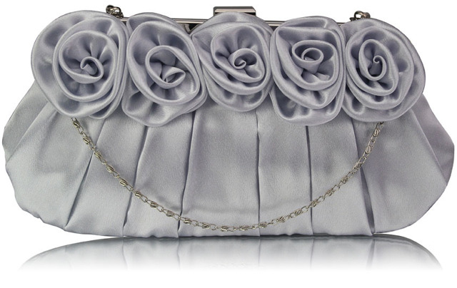 Psaníčko Fashion Satin Rose - stříbrné stříbrná
