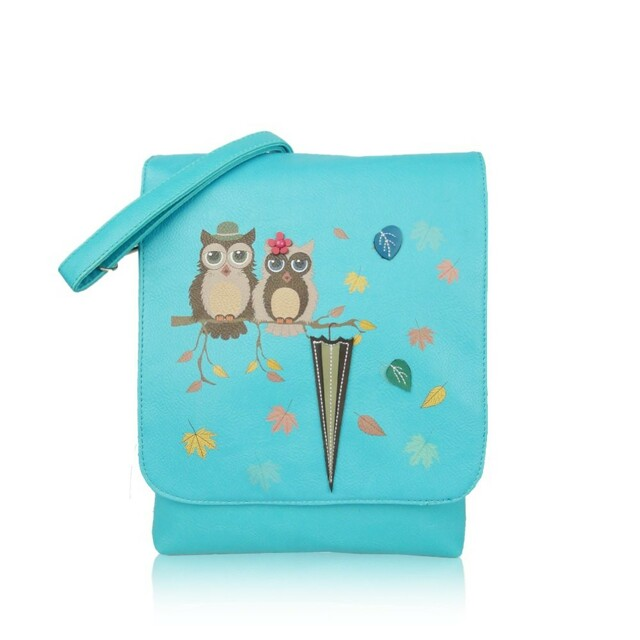 Kabelka Owl Love crossbody - modré