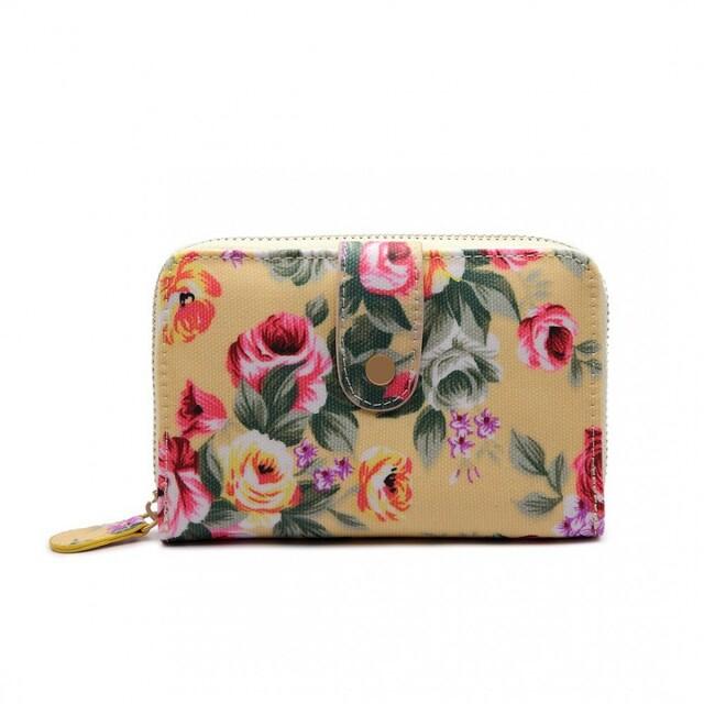 Peněženka Floral Print - béžová
