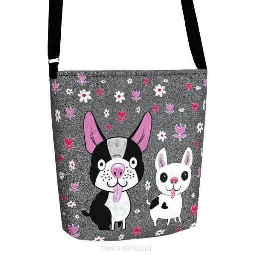 Filcová EKO kabelka Happy Dog - šedá