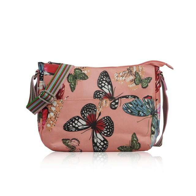 Kabelka Butterfly Dream crossbody - růžová