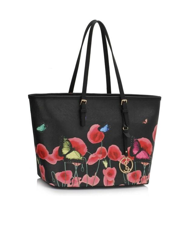Kabelka Fashion Only Butterfly - černá
