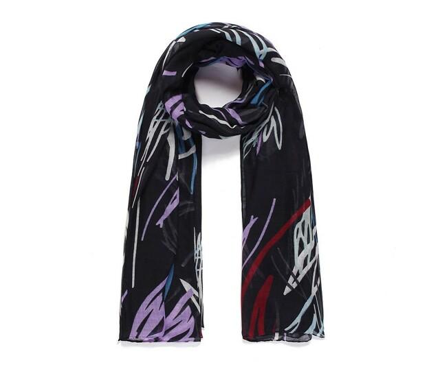 Luxusní šátek Abstract Black