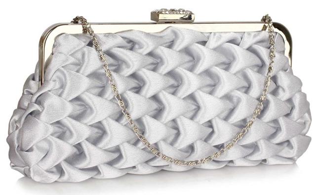 Psaníčko Fashion Satin - stříbrné - stříbrná