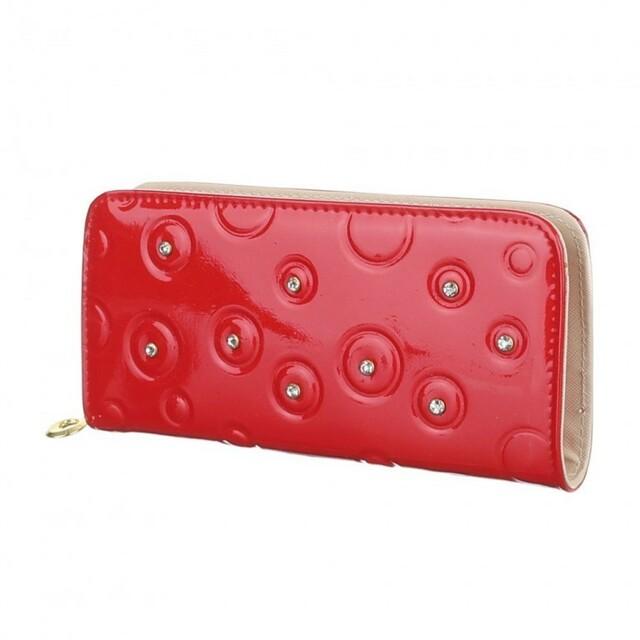 Peněženka Bubblo Star - červená metalíza