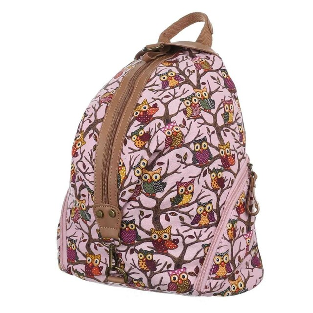Batoh K-Fashion Owls - růžový