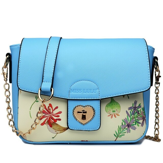 Kabelka crossboby Corry Floral - modrá