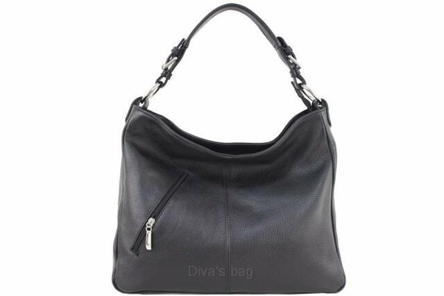 Kabelka Fashion Elens kožená - černá