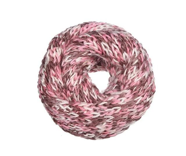 Pletený šál Snood - růžový