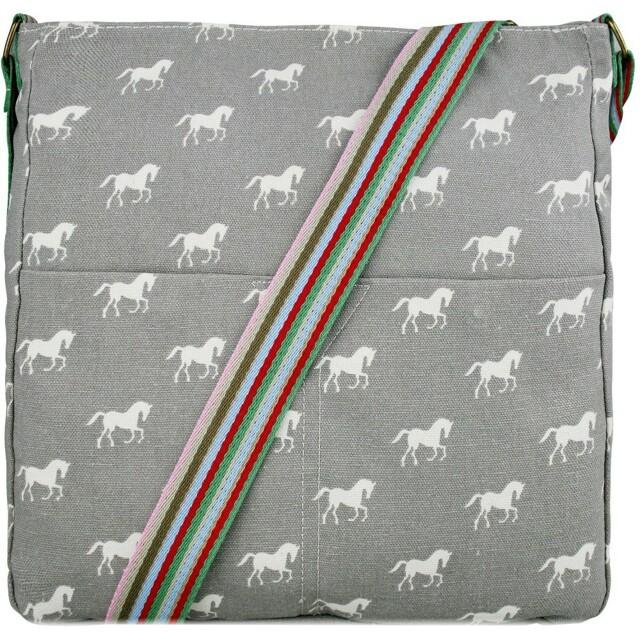Kabelka Horse Mania - šedá