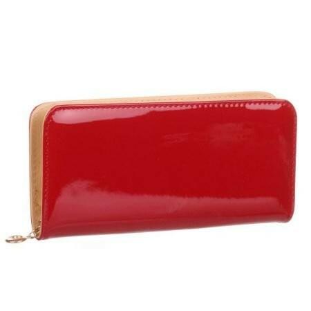 Peněženka Daisy lakovaná - červená