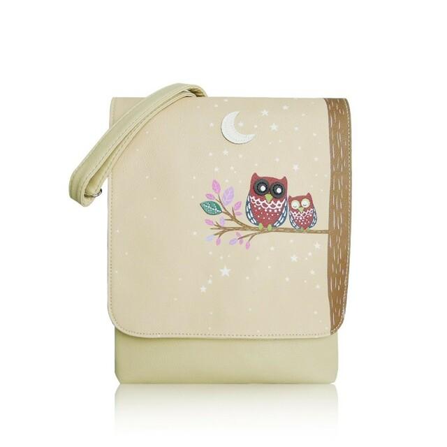 Kabelka Owl Moon crossbody - světlá