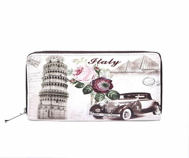 Peněženka stylová Vintage Pisa & Car