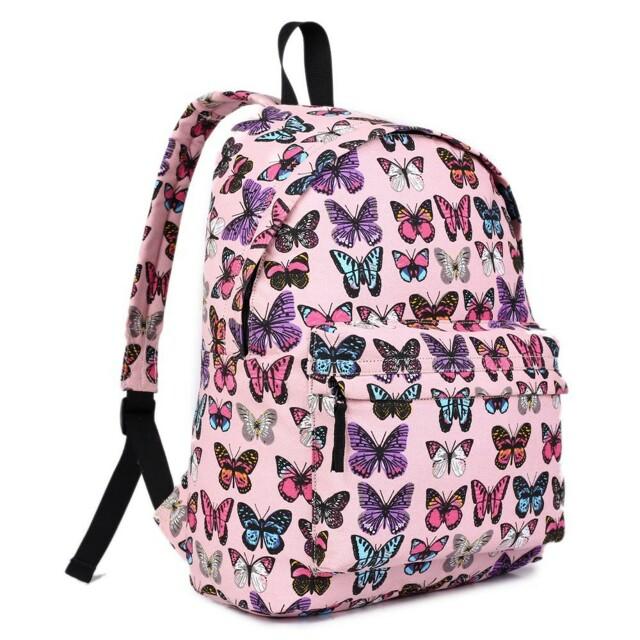 Batoh Lulu Butterfly - růžový