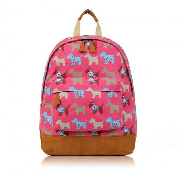 Batoh D.Fashion Dog Mania - růžová