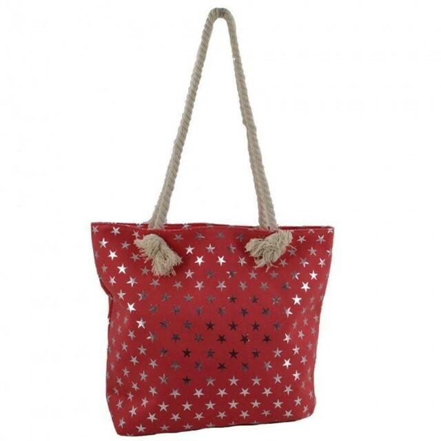 Plážová taška Metal Star - červená