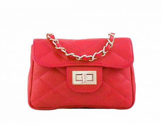 Kabelka Florence Perlita mini - červená červená