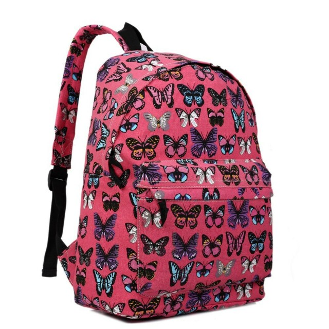 Batoh Lulu Butterfly - fuchsiový