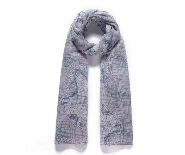 Luxusní šátek Blue Map
