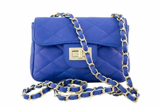 Kabelka Florence Perlita mini - modrá