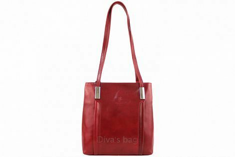 Kabelka batoh Cereta kožená - červená