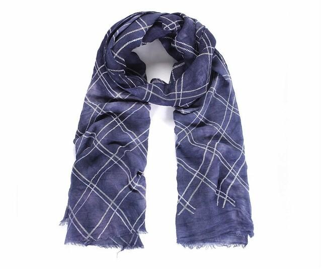 Luxusní šátek Batika Kare blue