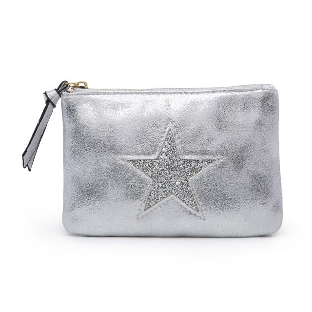 Kosmetická taštička Stars 1 - šedá šedá