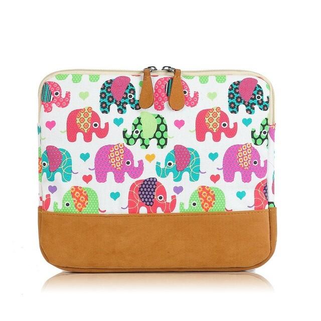 Obal na tablet Elephant Mania - bílá