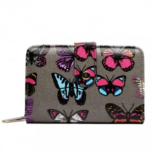 Peněženka LULU Butterfly růžová