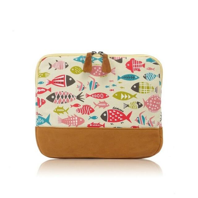 Obal na tablet Fish Style - světlý - krémová