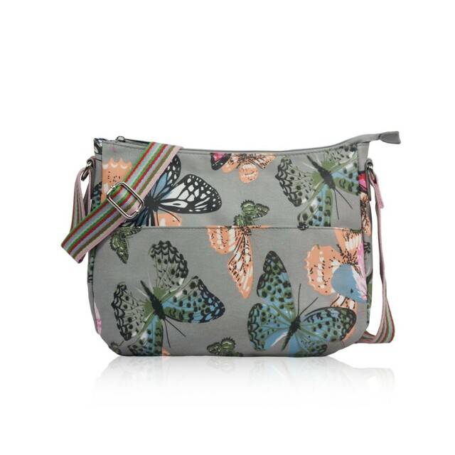 Kabelka Butterfly Dream crossbody - šedá
