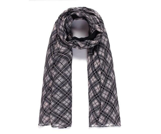 Luxusní šátek Kare black