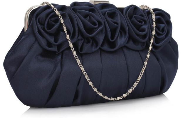Psaníčko Fashion Satin Rose - modré - modrá