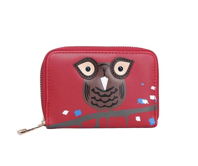 Peněženka Cute Owls - červená