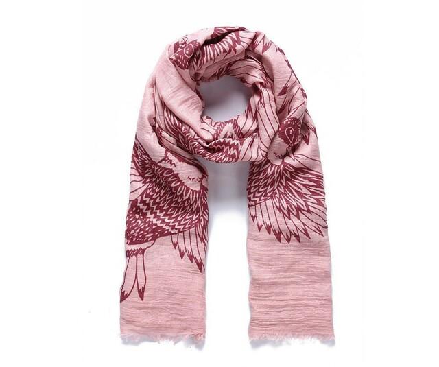 Luxusní šátek Wild Bird pink