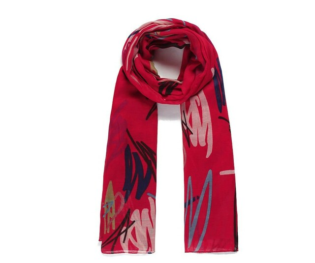 Luxusní šátek Abstract Red