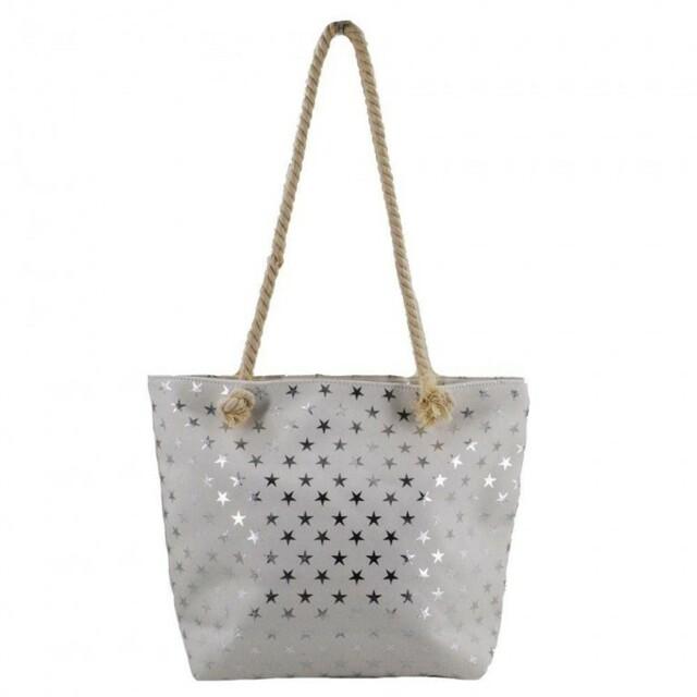 Plážová taška Metal Star - bílá