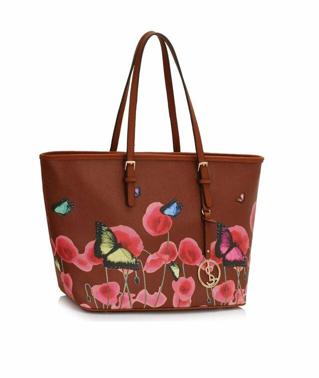 Kabelka Fashion Only Butterfly - hnědá