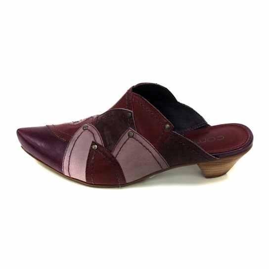 Dámská kožená obuv Comma 27306 - fialová