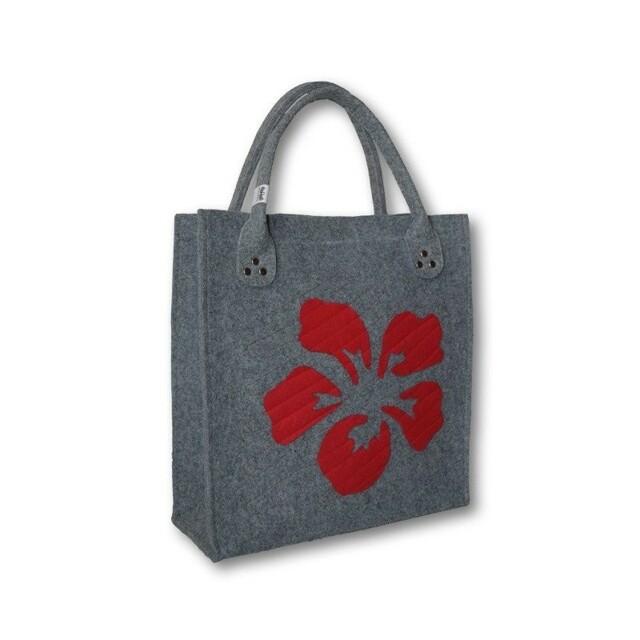 Filcová kabelka Flower Red
