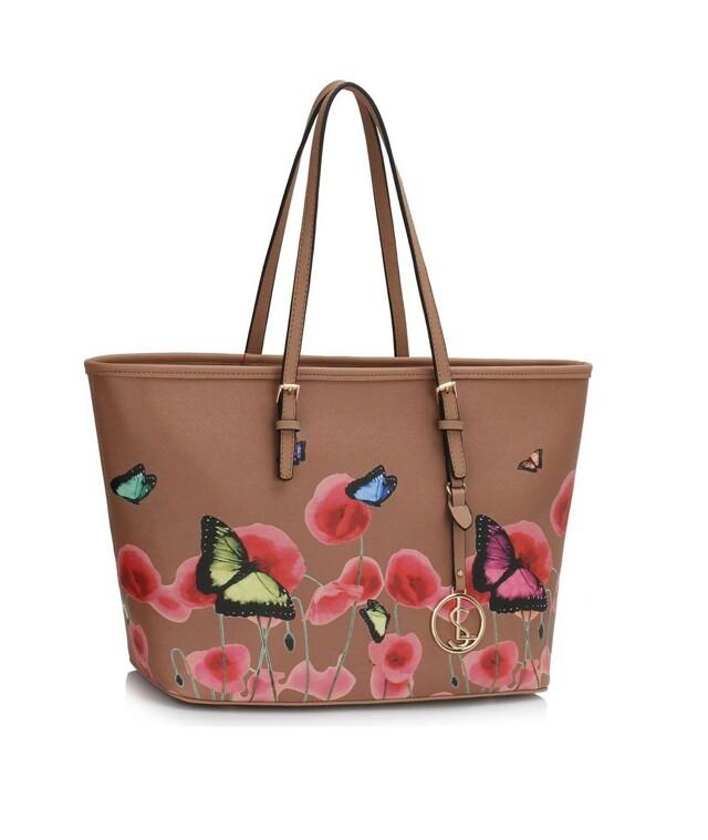 Kabelka Fashion Only Butterfly - béžová