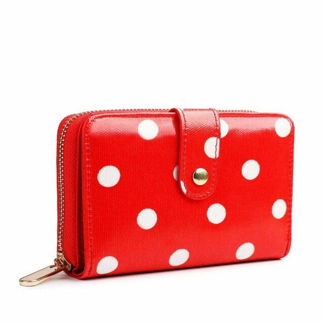 Peněženka Polka Dot - červená