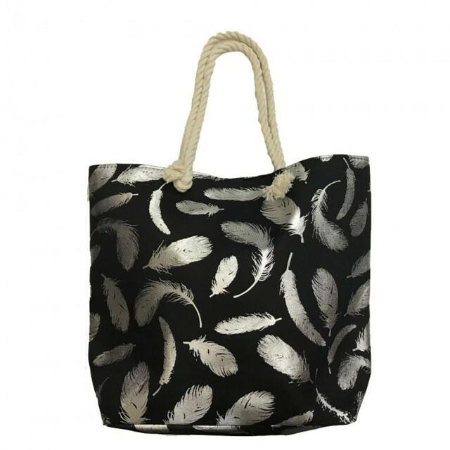 Plážová taška Susi Beach - černá / stříbrná