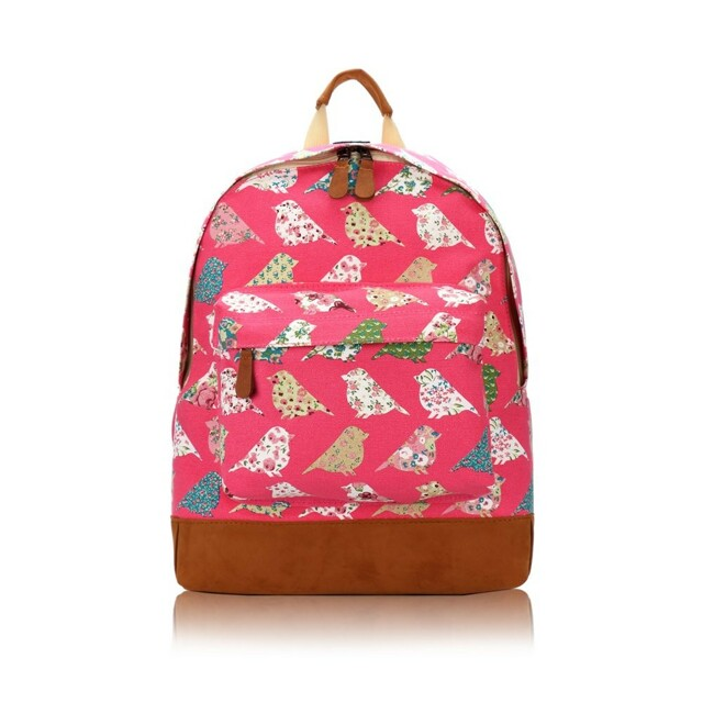 Batoh Spring Birds - růžový
