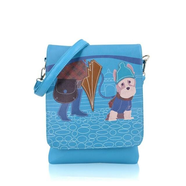 Kabelka Little Dog crossbody - modré