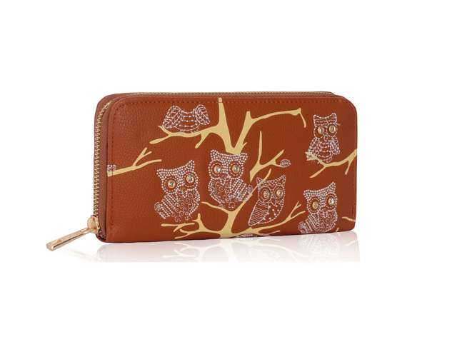 Peněženka Fashion Only Owl - hnědá