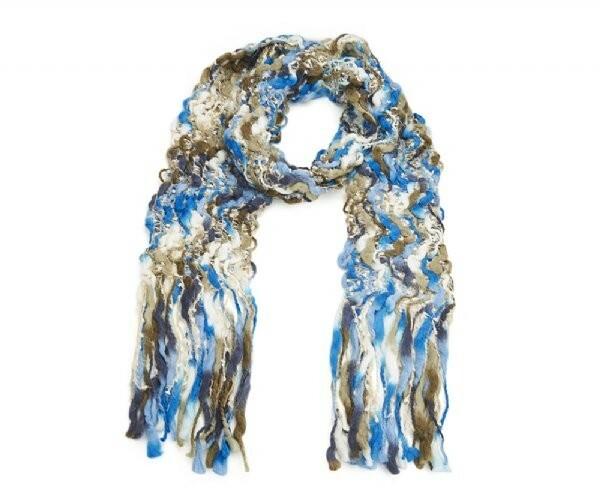 Luxusní šála Berdy - modrá