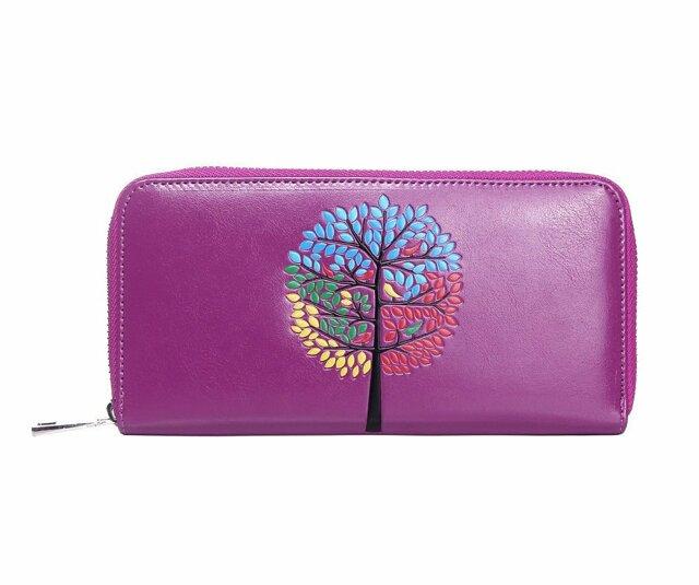 Peněženka Color Tree - fialová